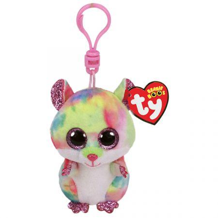 בובת TY מחזיק מפתחותרודני - אוגר צבעוני