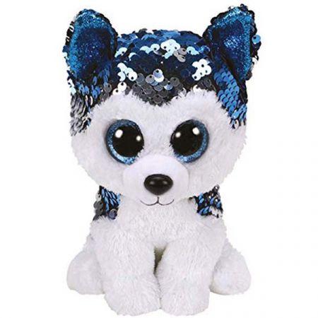 בובת TY עיניים גדולות (S) פאייטים - סלאש כלב האסקי סיבירי