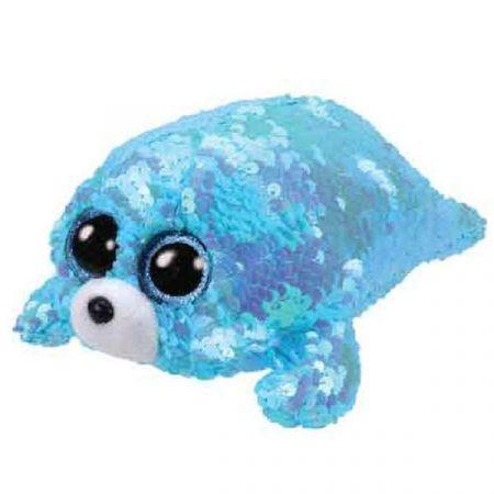 בובת TY- עיניים גדולות פאייטים (S)- ווייבס כלב הים