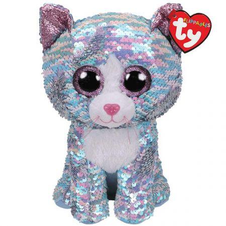בובת TY- עיניים גדולות פאייטים (M)- ווימסקי החתול הכחול