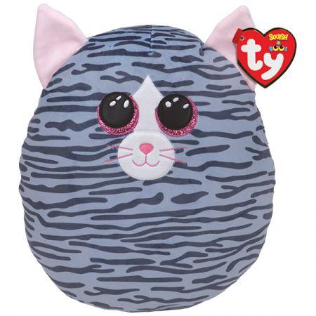 בובת TY עיניים - כרית חיבוקי ''14- קיקי - חתולה אפורה