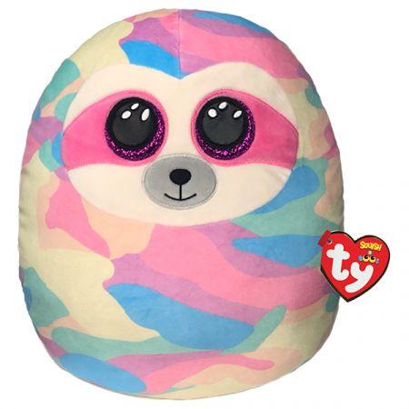 בובת TY עיניים - כרית חיבוקי ''14- קופר - עצלן -צבעי פסטל