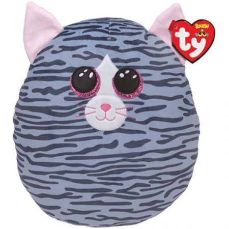 בובת TY עיניים - כרית חיבוקי ''10- קיקי - חתולה אפורה