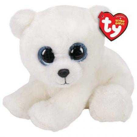 בובת TY עיניים גדולות (S) ארי - דוב קוטב לבן