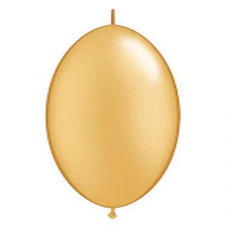 בלון Q6 לינק זהב מטאלי - 50 יח