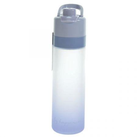 בקבוק שתיה והתזת מים 650 מל ציפוי גומי- כחול אומברה