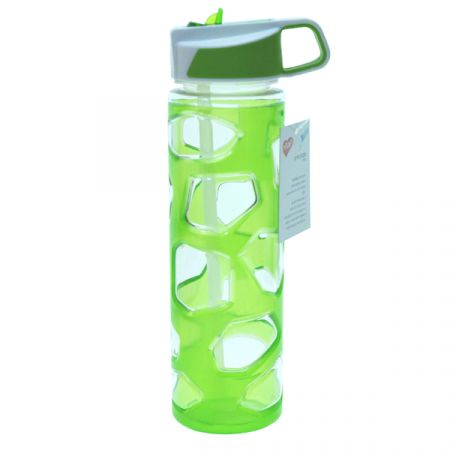 בקבוק ספורט 650 מל טריטן עם שרוול בצבע ירוק