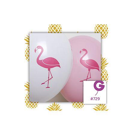בלון G120 מודפס פלמנגו מעורב צבעים