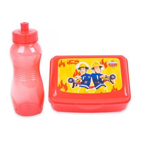 סט קופסת אוכל ובקבוק פלסטיק - סמי הכבאי