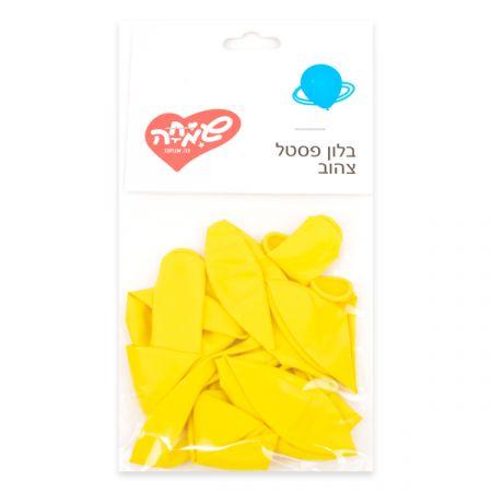 שקית 10 פסטל -צהוב