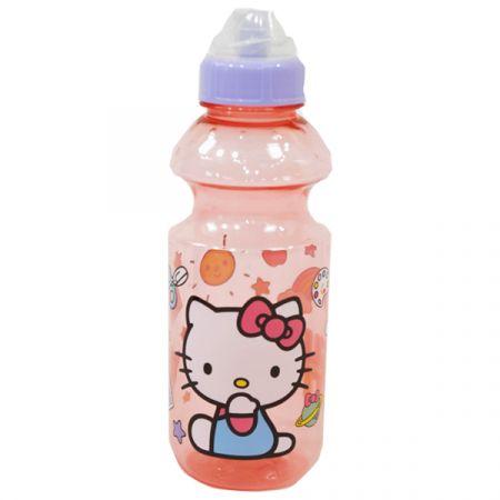 בקבוק פלסטיק 500 מל עם פיה מסתובבת - הלו קיטי