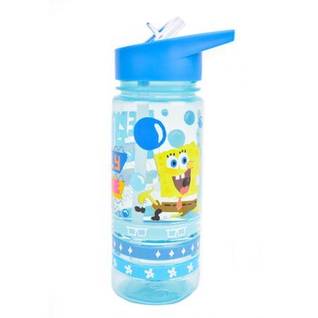 בקבוק 500 מל פלסטיק עם צמידים - בוב ספוג