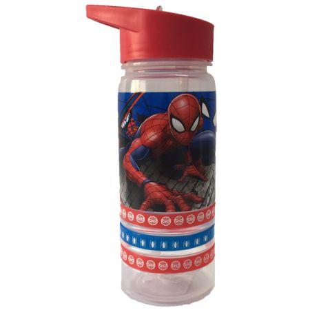 בקבוק 500 מל פלסטיק עם צמידים - ספיידרמן