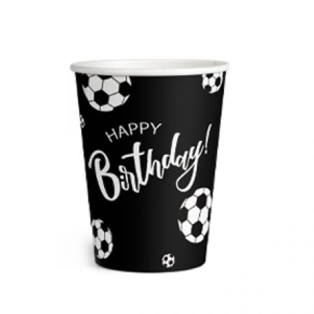 כוסות נייר 8 יח- כדורגל