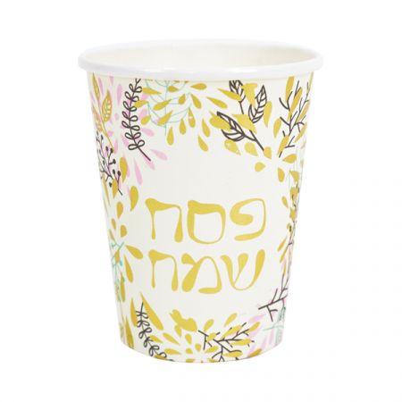 כוסות נייר 300 גר 10 יח - פסח
