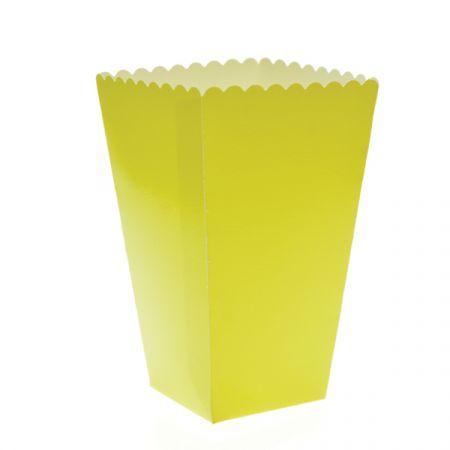 קופסת פופקורן וחטיפים 6 יח- מקרון צהוב