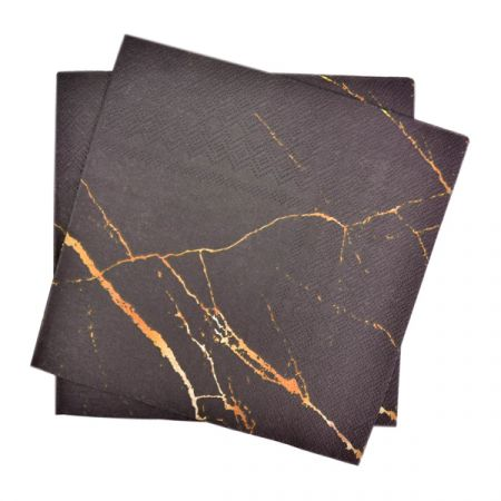 מפיות נייר 2 שכ 33X33 סמ 20 יח- שיש שחור זהב