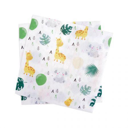 מפיות נייר 2 שכ 33X33 סמ 20 יח - חיות ספארי ילדים