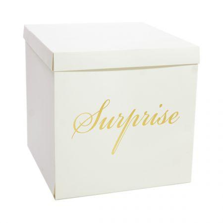 קופסת מתנה מתפוצצת 50X50 ס''מ- לבן