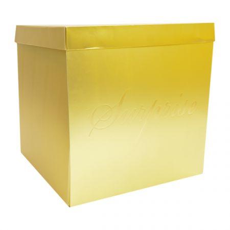 קופסת מתנה מתפוצצת 50X50 סמ- זהב