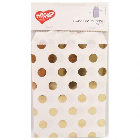 שקית נייר עם הטבעה 10 יח-1