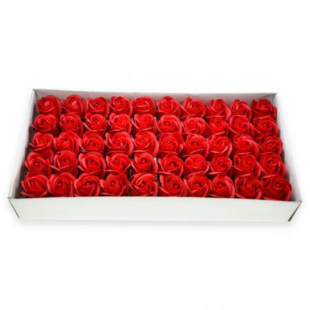 50 פרחי סבון בקופסא - אדום - ללא זכות החזרה