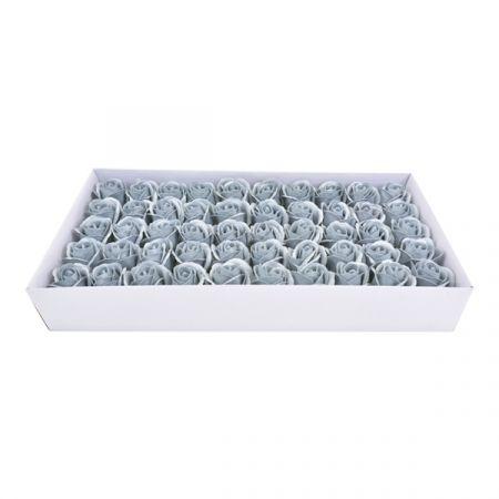 50 פרחי סבון בקופסא - כסף - ללא זכות החזרה