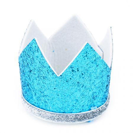 כובע גליטר עם פרחים לילדים כחול