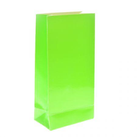 שקית קרטון בסיס 190 גר- ניאון ירוק 4 יח