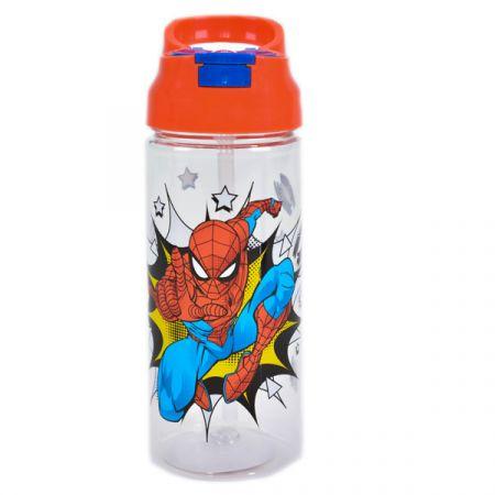 בקבוק פלסטיק 470 מל פיה מתקפלת - ספיידרמן