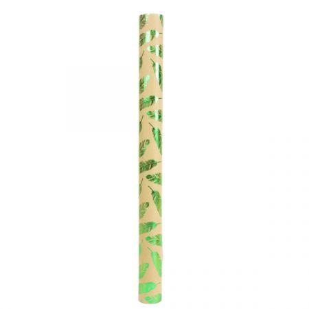 נייר עטיפה קראפט - עלים ירוקים