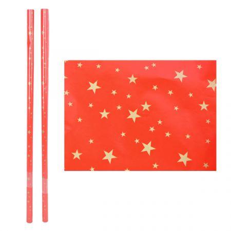 נייר עטיפה כוכבים מיקס 2 יח - 70X1 מטר