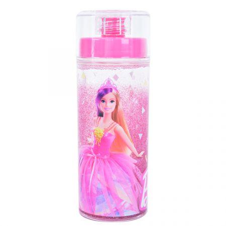 בקבוק פלסטיק 370 מל דופן כפולה עם נצנצים - ברבי