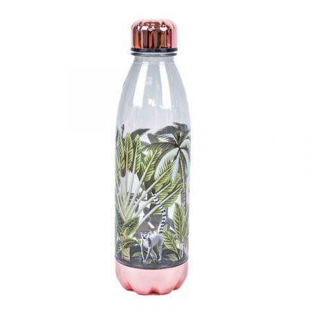 בקבוק קולה שקוף 680 מל- טרופי רוז גולד