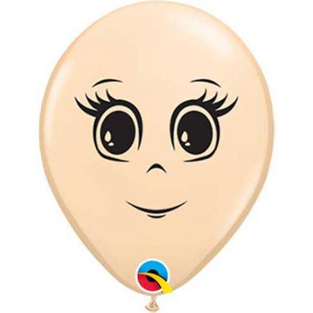 בלון Q5 מודפס פרצוף אישה - 100 יח