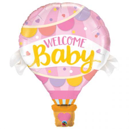 בלון מיילר Q42 כדור פורח ברוכה הבאה תינוקת 1יח