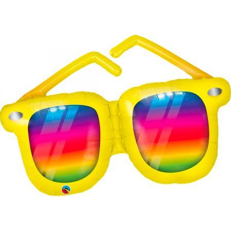 בלון מיילר Q42 משקפיים צבעי הקשת 1 יחי