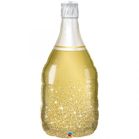 בלון מיילר Q39 בקבוק יין מוזהב - 1 יח