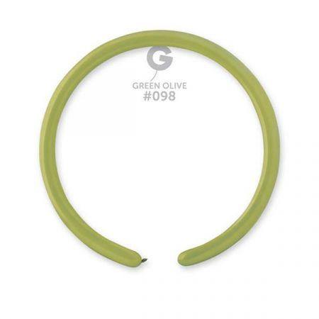 בלון נקניק D2 ירוק זית 098 - 50יחי