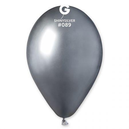 בלון G120 מבריק 089 - כסף 50 יח
