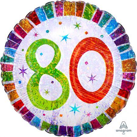 בלון מיילר 18 HB - יום הולדת 80 קורן