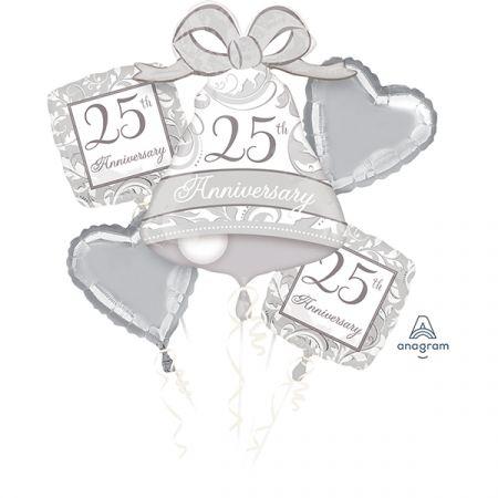 זר בלונים - חגיגות 25