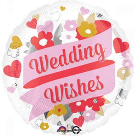 בלון מיילר 18- איחולי חתונה פרחוני