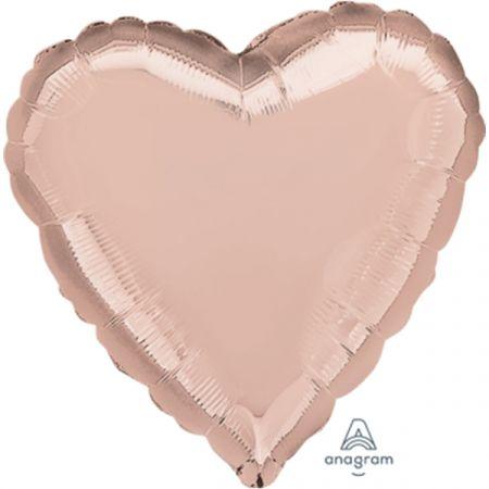 בלון מיילר 18- חלק לב רוז גולד