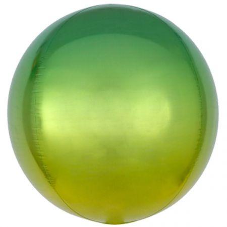 בלון 15 ORBZ עגול אומברה צהוב ירוק