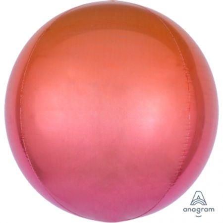 בלון מיילר 15- תלת מימד אומברה אדום כתום ORBZ
