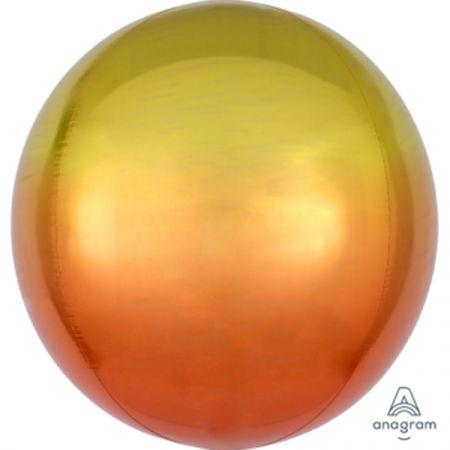 בלון מיילר 15- תלת מימד אומברה צהוב כתום ORBZ