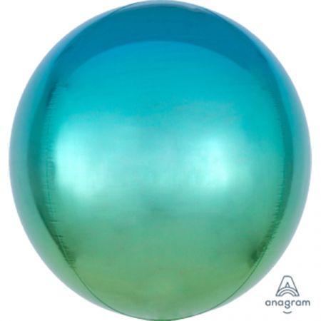 בלון מיילר 15- תלת מימד אומברה כחול ירוק ORBZ