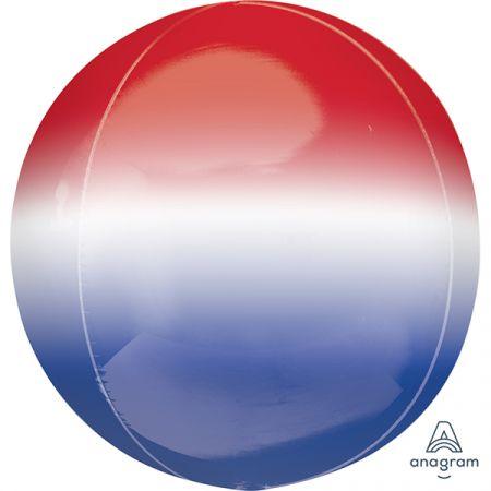 בלון מיילר 15- תלת מימד אומברה אדום לבן וכחול ORBZ