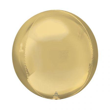 בלון מיילר 15 תלת מימד ORBZ זהב לבן 1 יח